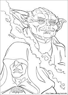 מלחמת הכוכבים דמויות דפי צביעה
