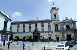 Piazza Municipio in the Naples suburb of Pomigliano d'Arco
