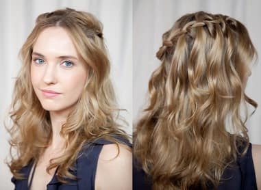 waterfall braid with wavy curves