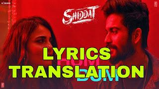 Hum Dum Lyrics in English   With Translation    – Shiddat
