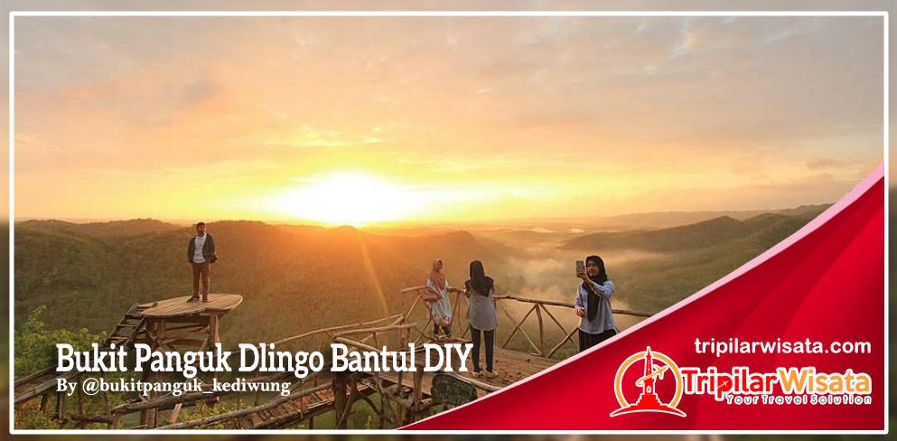 Menikmati sunrise berselimut kabut di bukit kediwung dlingo bantul Yogyakarta