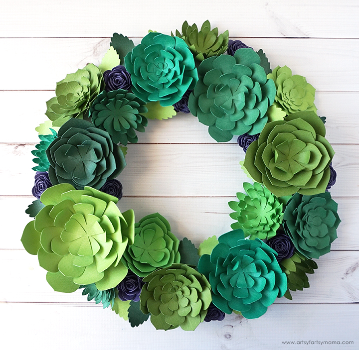 Paper Succulent Wreath