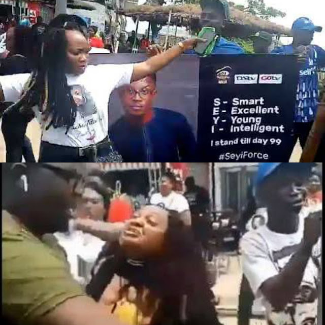 #BBNaija 2019: Tacha's fans clash with Seyi's fans in Surulere, Lagos state