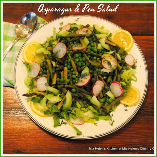 Asparagus & Pea Salad at Miz Helen's Country Cottage