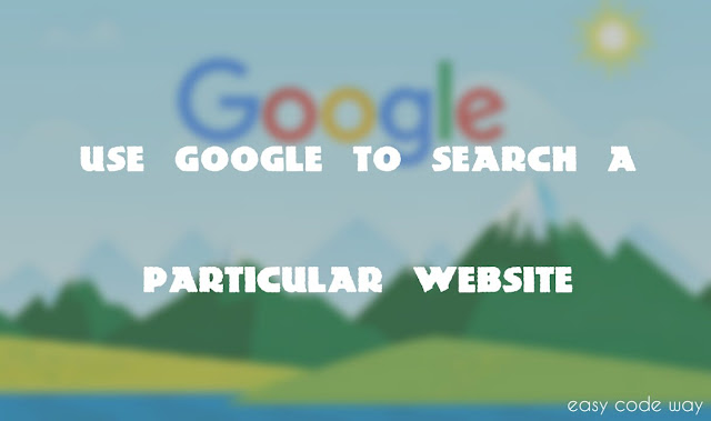 Use Google to Search Particular Website