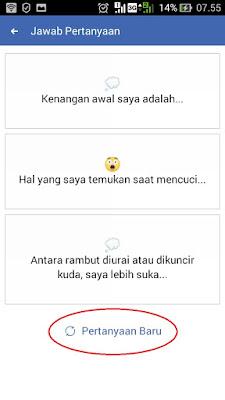 cara bikin status menjawab pertanyaan di facebook