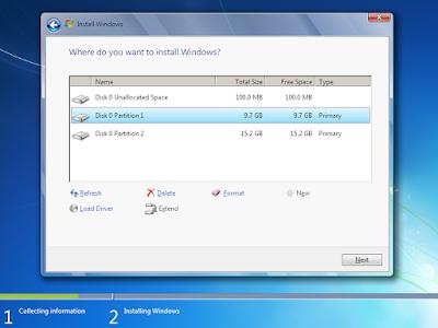 Cara Install dan Install Ulang Windows 7+ dengan Flashdisk 7