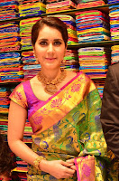 Raashi Khanna in colorful Saree looks stunning at inauguration of South India Shopping Mall at Madinaguda ~  Exclusive Celebrities Galleries 007.jpg