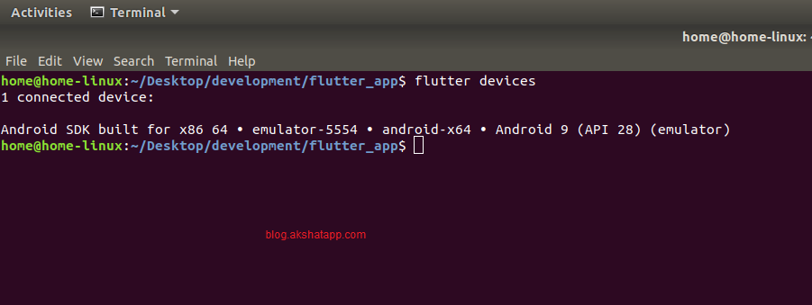 flutter devices command