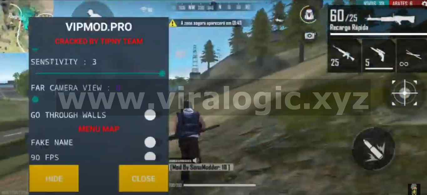 VIP Mod Pro Mod Menu Free Fire Anti Blacklist Anti Ban Terbaru
