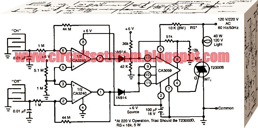 On-Off Touch Switch Circuit Diagram
