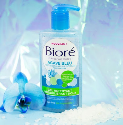 Gel Nettoyant Rééquilibrant Doux Agave Bleu - Bioré