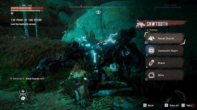 Screenshot gameplay Horizon Zero Dawn Complete Edition PC