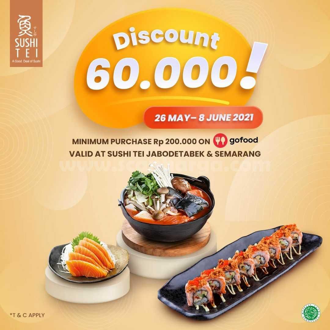 Promo Sushi Tei Diskon hingga 60% melalui Gofood