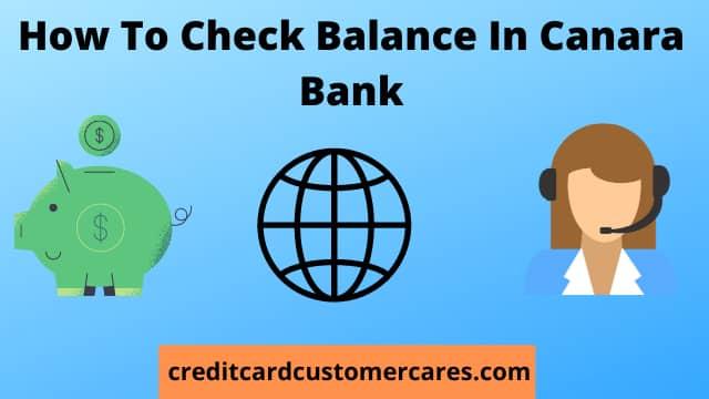 How To Check Balance In Canara Bank