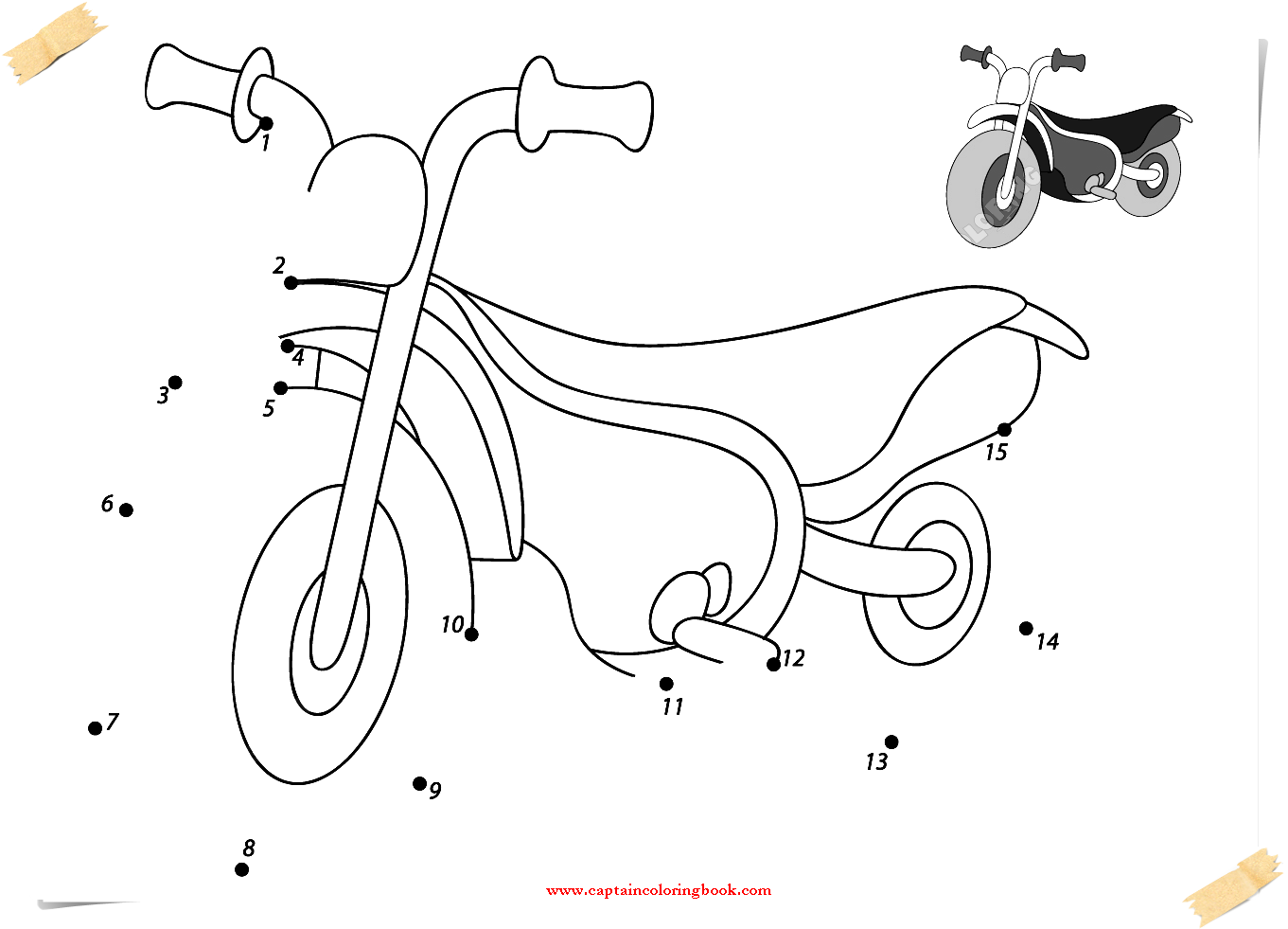 vehicles dot to dots free printable coloring page