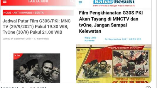 Film G30S/PKI juga Bakal Tayang di MNC, Mustofa: Ahoker Harus Nonton!