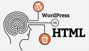 Difference between WordPress and HTML