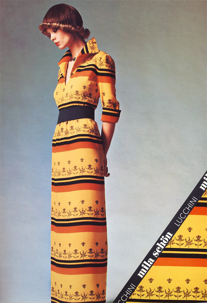 Mila Schon ad 1970s,