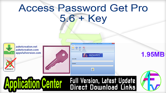 Access Password Get Pro 5.6 + Key