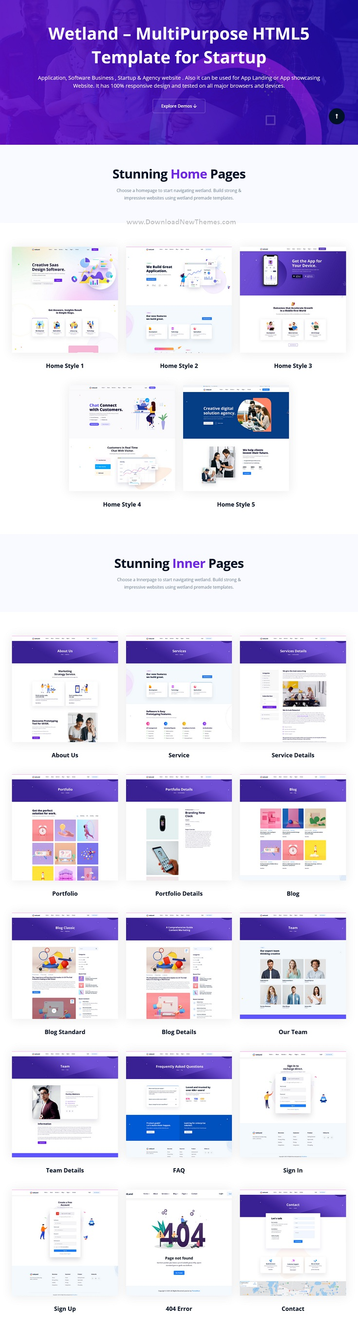 MultiPurpose Bootstrap Template for Startup