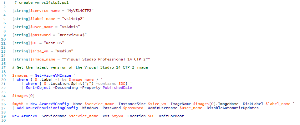 Naked PowerShell: How to deploy Visual Studio 14 CTP 2
