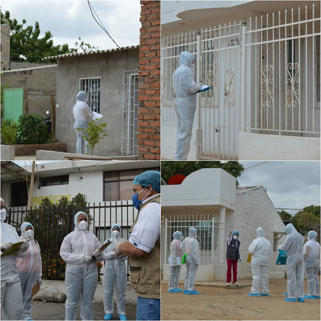 Casa por casa se buscan casos de covid 19 en Riohacha