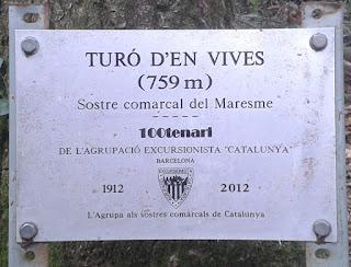 Turó d'en Vives (Sostre comarcal Maresme)