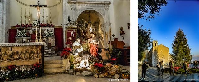 Decoração de Natal em Taormina, Sicília