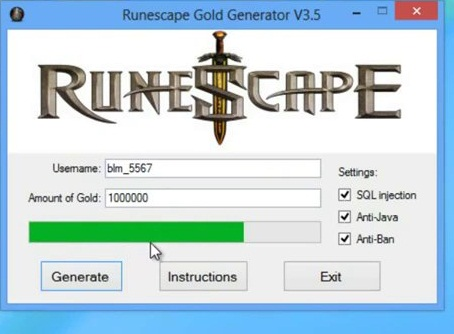 Free runescape gold download.