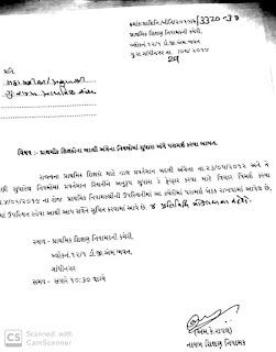 शिक्षकों के बदली पत्र-23/05/2012 के ठराव में बदलने के लिए दिनांक-4/6/2019  के रोज परामर्श बेठक करने हेतु पत्र