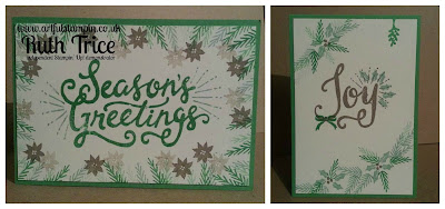 Artful Stampin Up Ruth Trice Card Craft paper Berry Merry Christmas Joy Seasons greetings