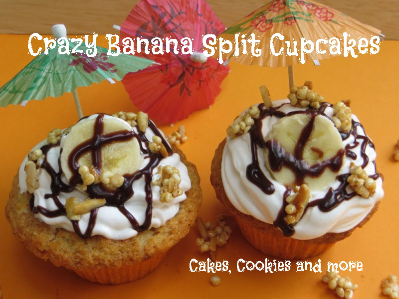 banana split goes cupcake rezept f r vegane bananen split cupcakes. Black Bedroom Furniture Sets. Home Design Ideas