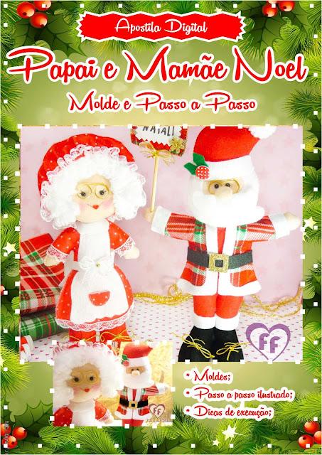 Natal Feltro Papai Noel
