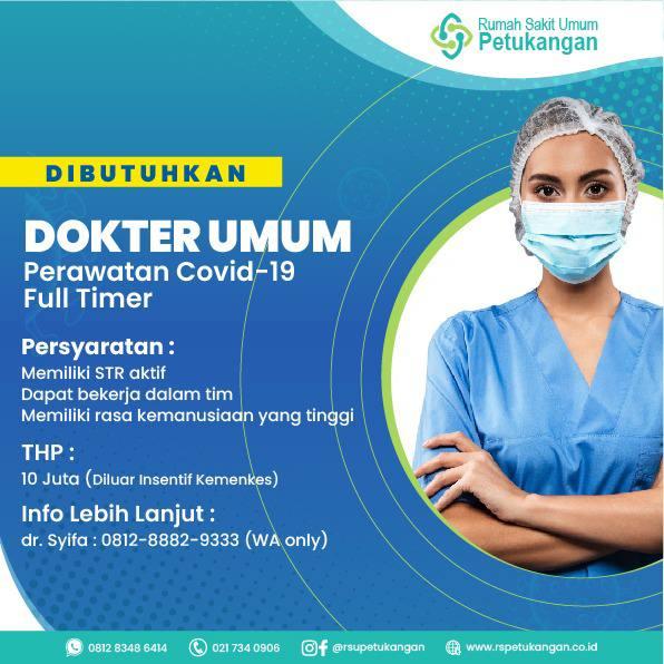 Loker Dokter Umum Rumah Sakit Umum Petukangan, Jakarta