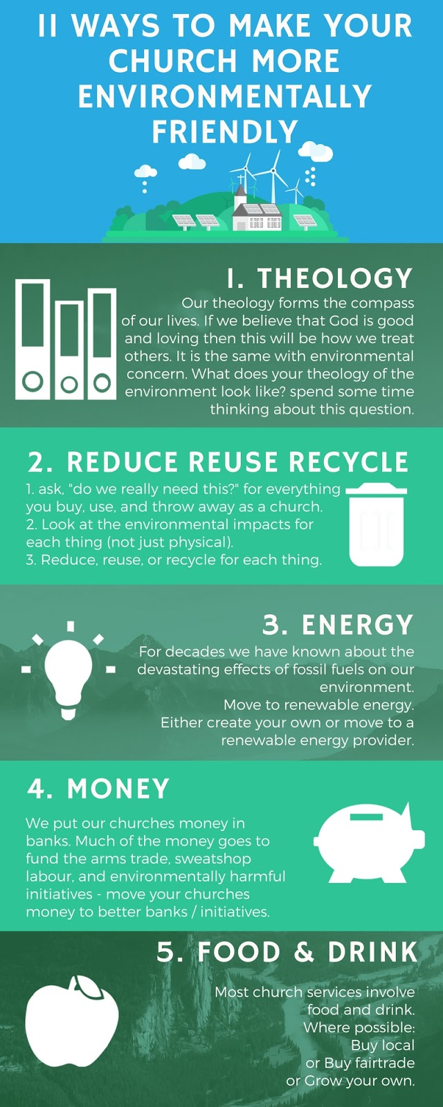 11 Ways To Make Your Church More Environmentally Friendly infographic Part 1