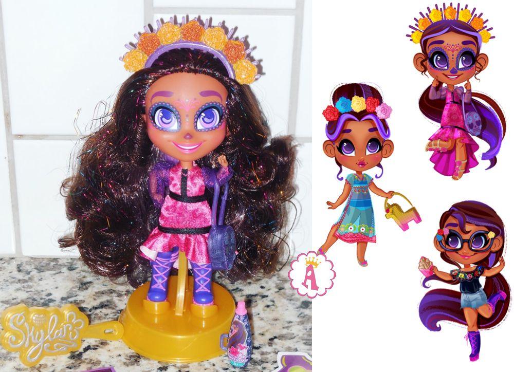 Модная кукла Скайлар с калаверой на лице Хэрдораблс серия 4