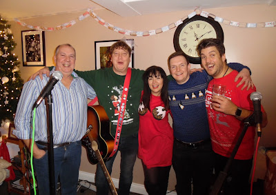 Picture: Enjoying a Christmas 2018 music night at the Stables Bar in Brigg - see Nigel Fisher's Brigg Blog