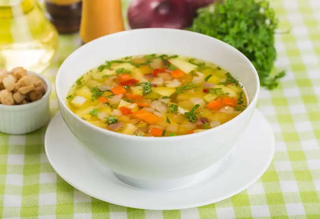 Delicious and healthy mixed vegetable soup recipe at home