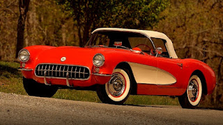 1956 Chevrolet Corvette Dual Quad Convertible Front Side