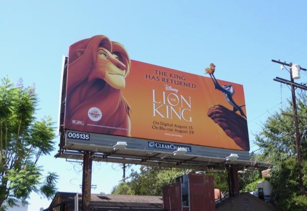Disney Lion King movie billboard