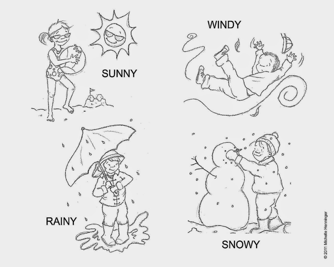 Preschool Weather Theme Coloring Pages | Coloring Pages