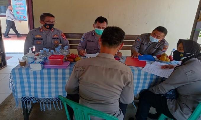 Tim Supervisi Bidkeu Polda Banten Kunjungi Polsek Saketi