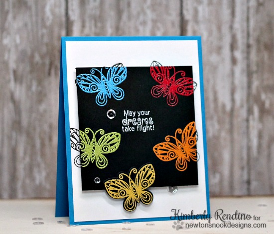 Buttterfly Card by Kimberly Rendino | Beautiful Wings Stamp set by Newton's Nook Designs #newtonsnook #butterfly