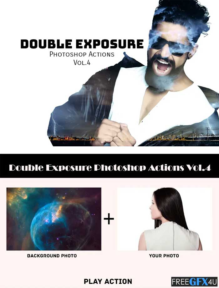 Double Exposure Photoshop Actions V4