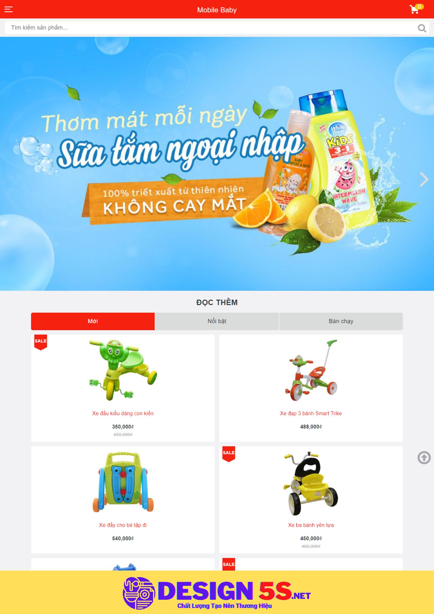 Theme blogspot bán đồ cho bé, mobile baby VSM26