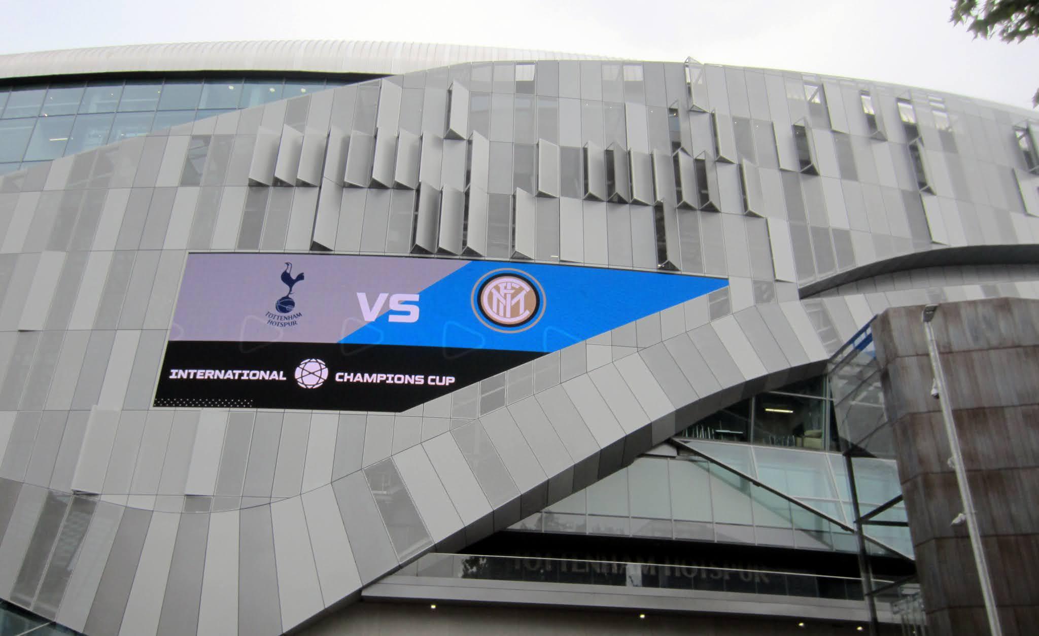 Matchup sign outside Tottenham Hotspur Stadium