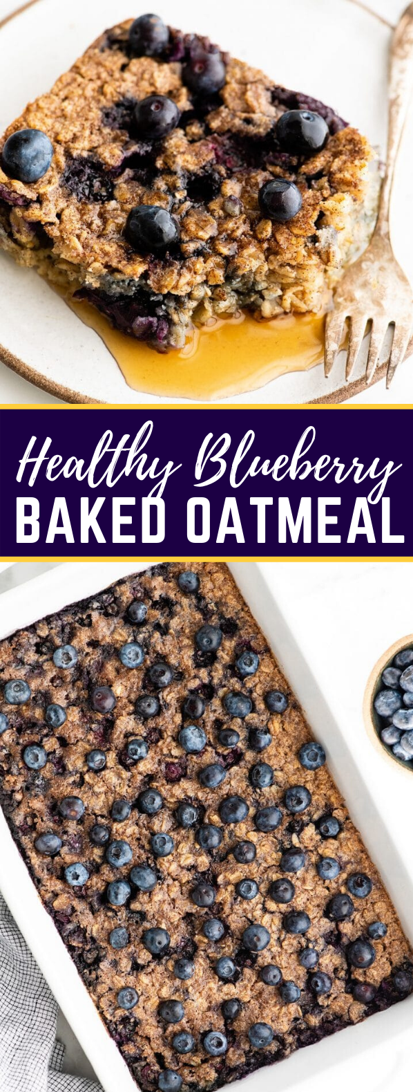 BLUEBERRY BAKED OATMEAL RECIPE #heatlhy #breakfast
