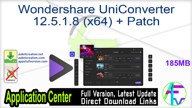 Wondershare UniConverter 12.5.1.8 (x64) + Patch