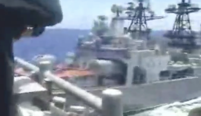Russian and US warships 'nearly collide' in 'dangerous' and 'unsafe' manoeuvring